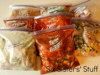 8 freezer meals