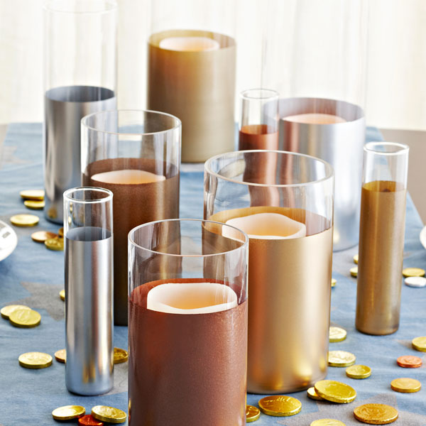 metal paper wrapped cylinder vase