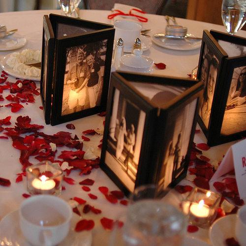 photos and candles