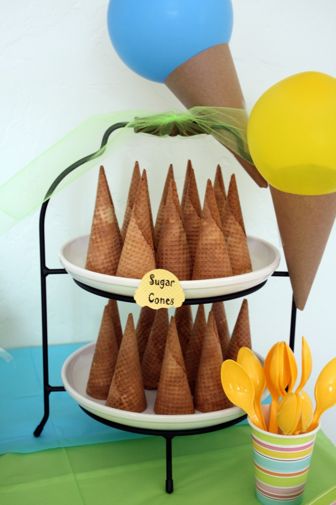 Ice Cream Party Cones