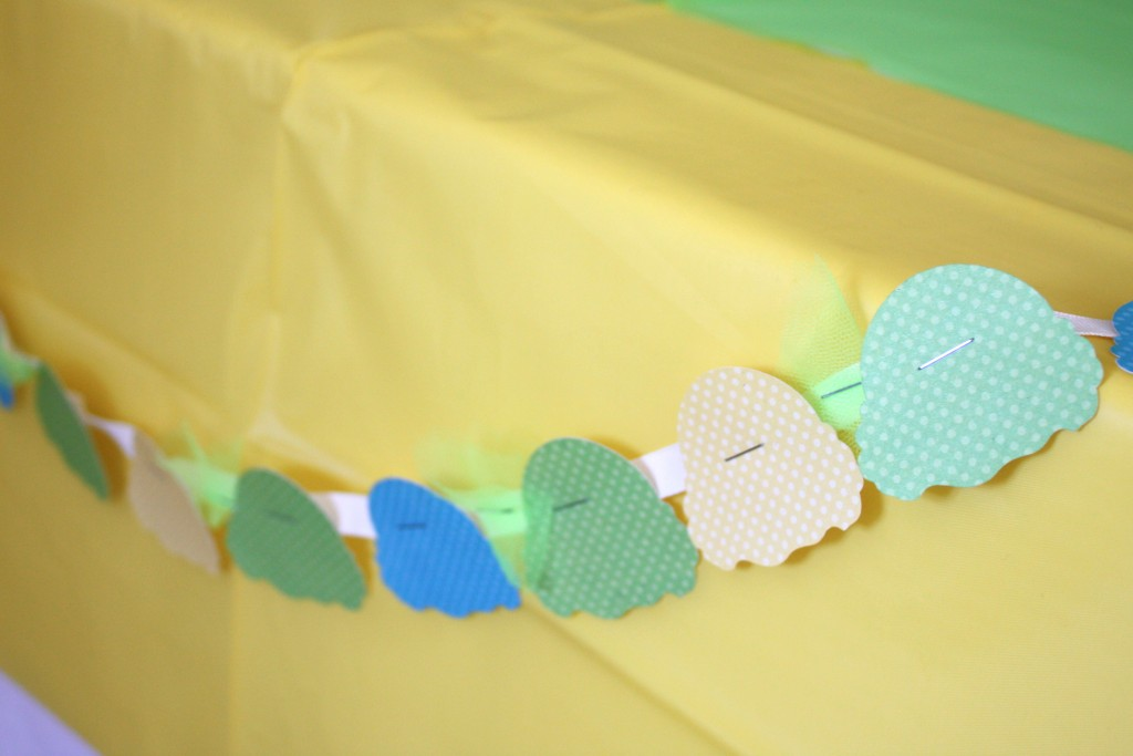 Ice Cream Party table garland