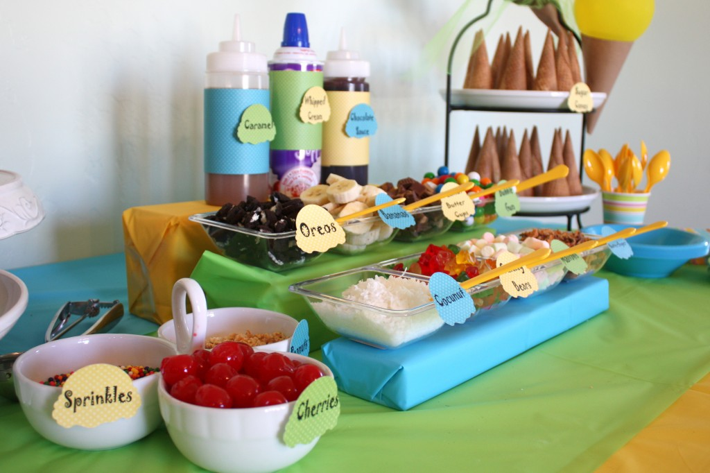 Ice Cream Sundae Bar 2