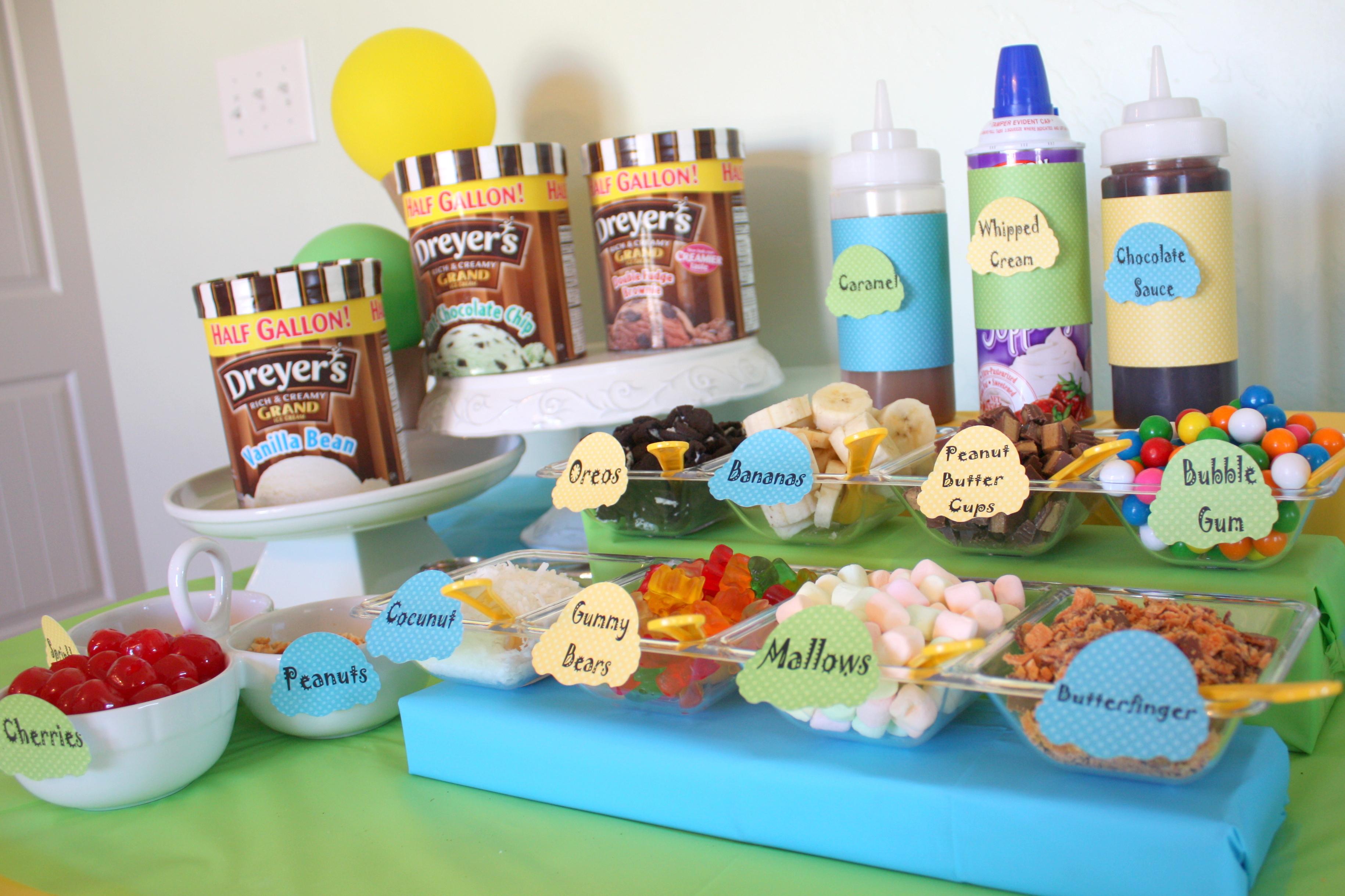 Images Of Ice Cream Bars DIY Decorations...