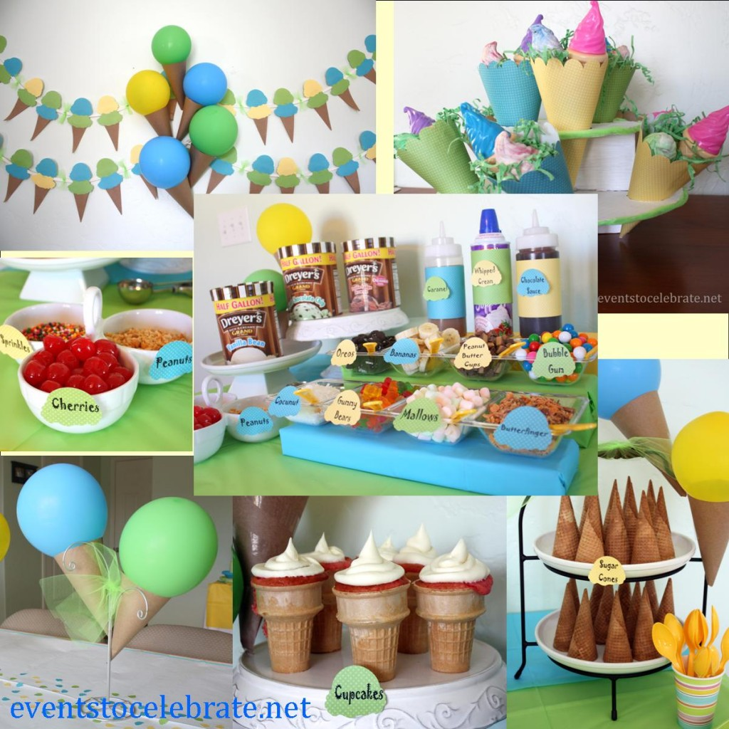 Ice Cream Cake Balloons Birthday Party Images