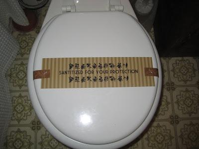 toilet sanitized