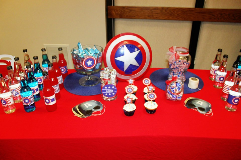 Captain America Party Food Table