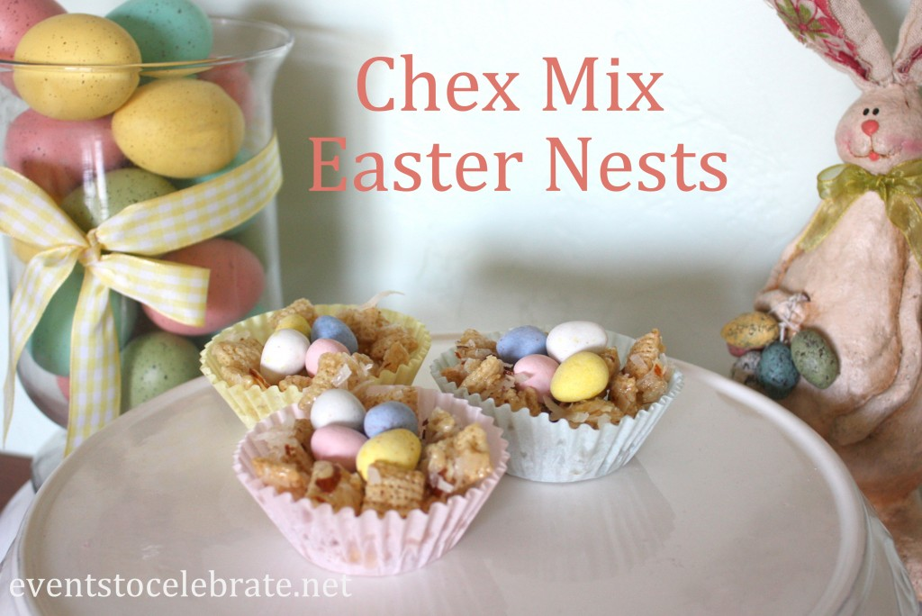 Chex Mix Easter Nests