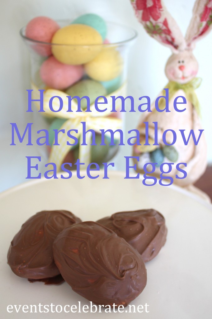 Homemade Chocolate Covered Marshmallow Easter Eggs