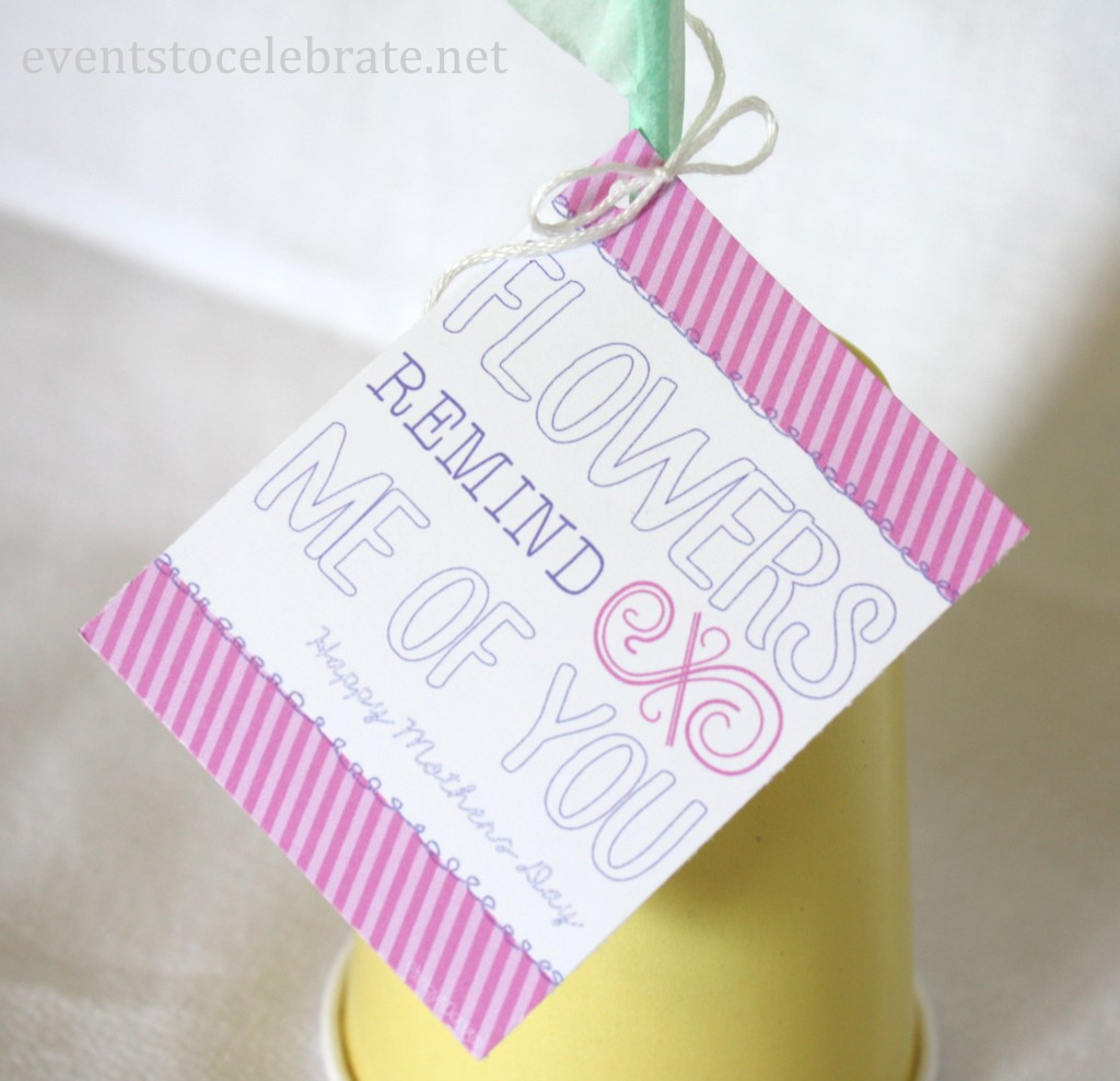 Mother's Day Flowers Gift Tag