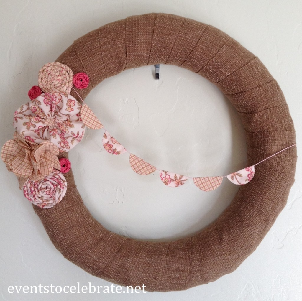 Spring Wreath Fabric Flowers