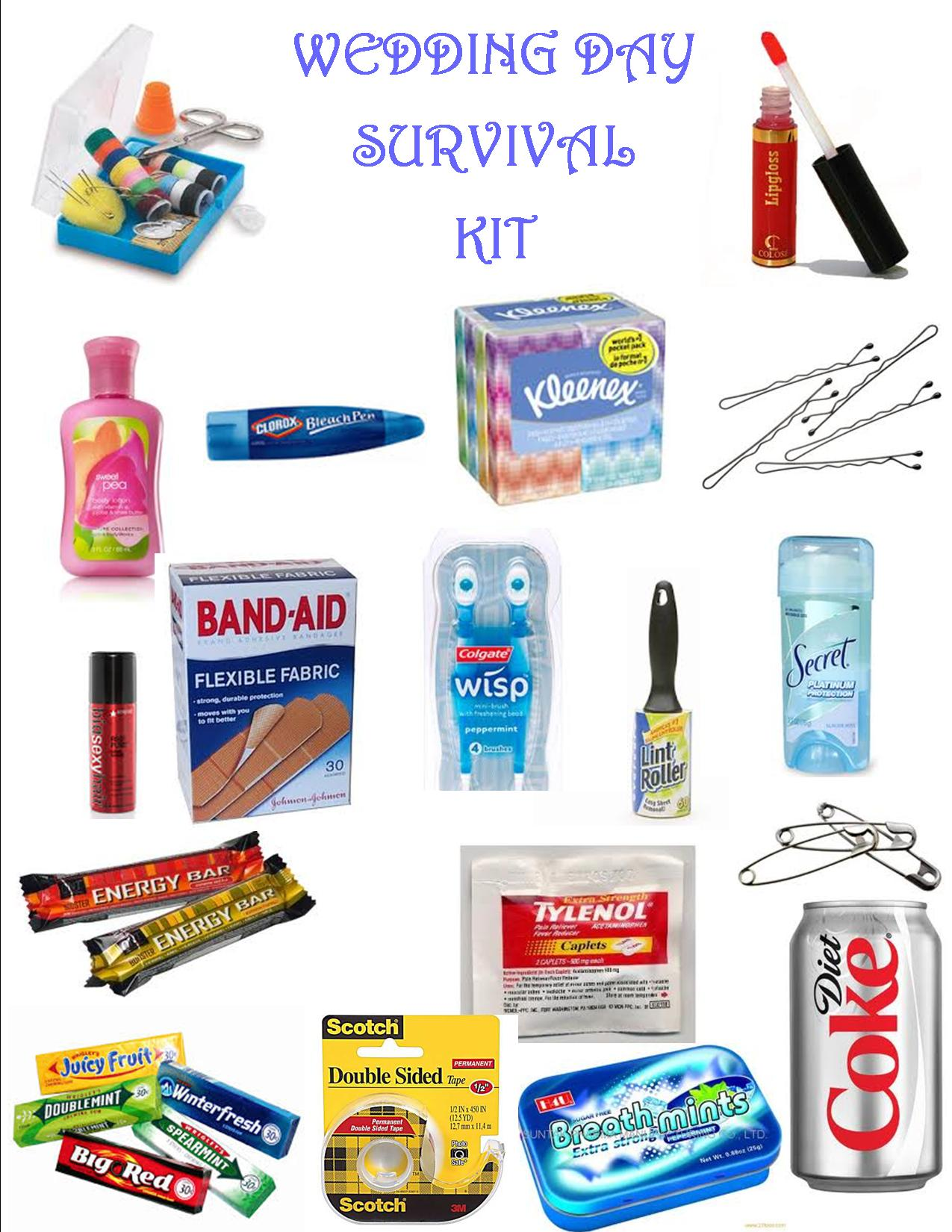 Wedding Survival Kit - events to CELEBRATE!