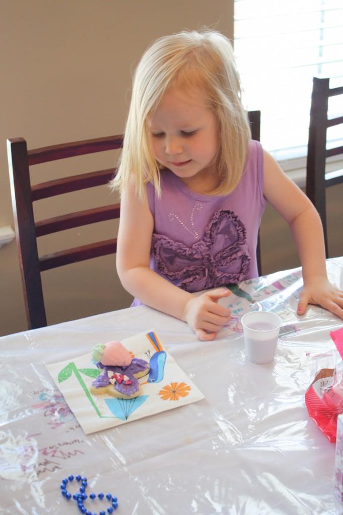 purple milk and cookies