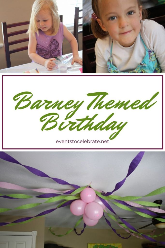 Barney Themed Birthday Party