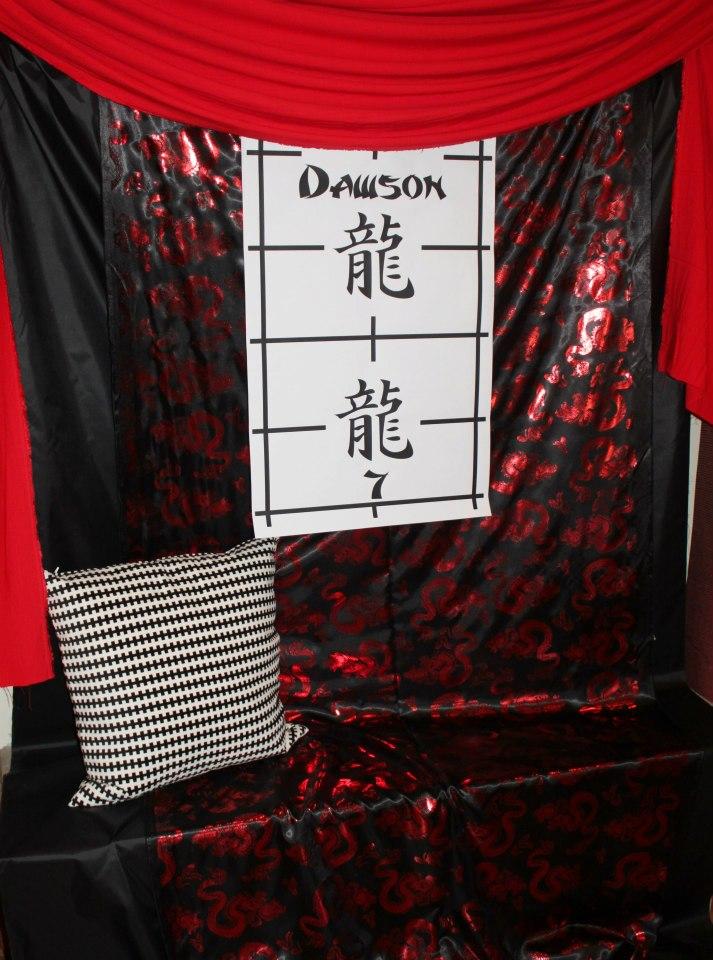 Ninja Party backdrop