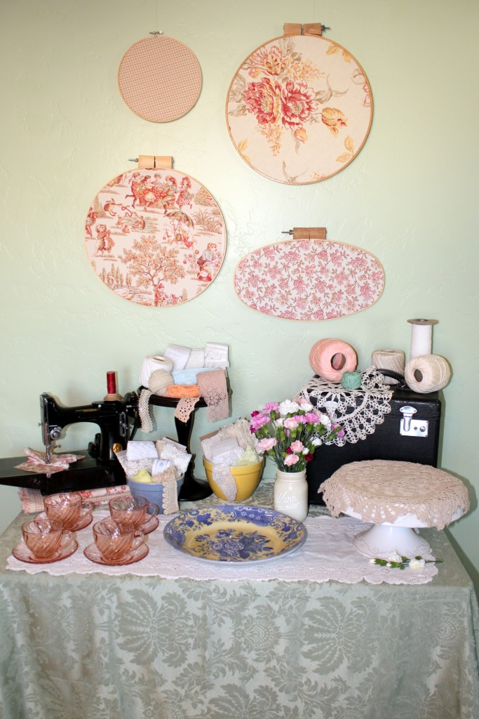 Sewing Themed Party Decor