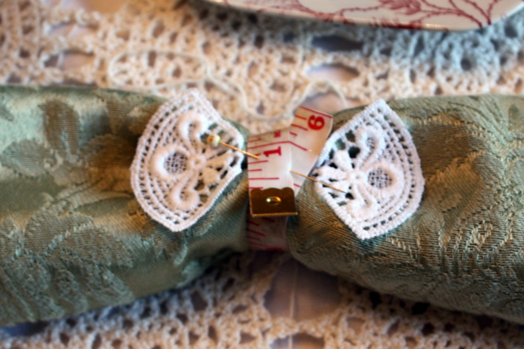 Sewing napkin rings