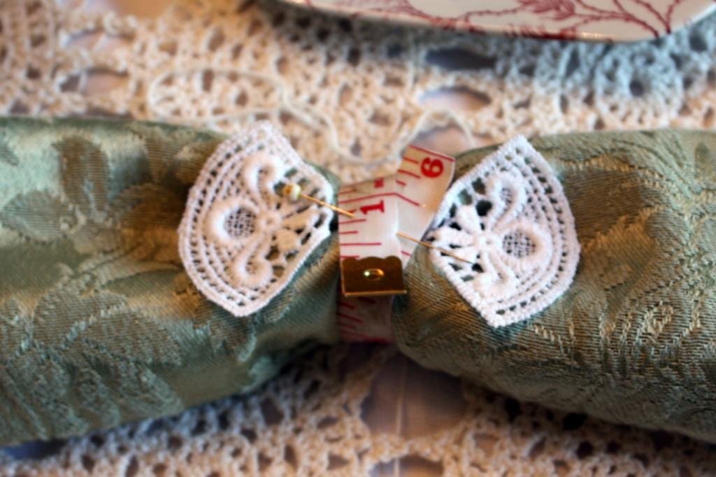 Sewing napkin rings