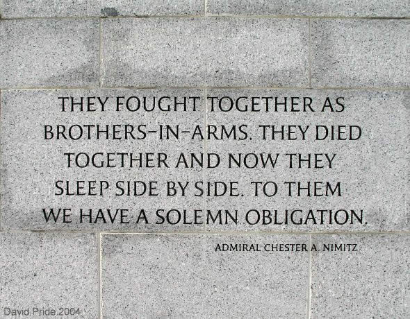 WWII Memorial Quote 2