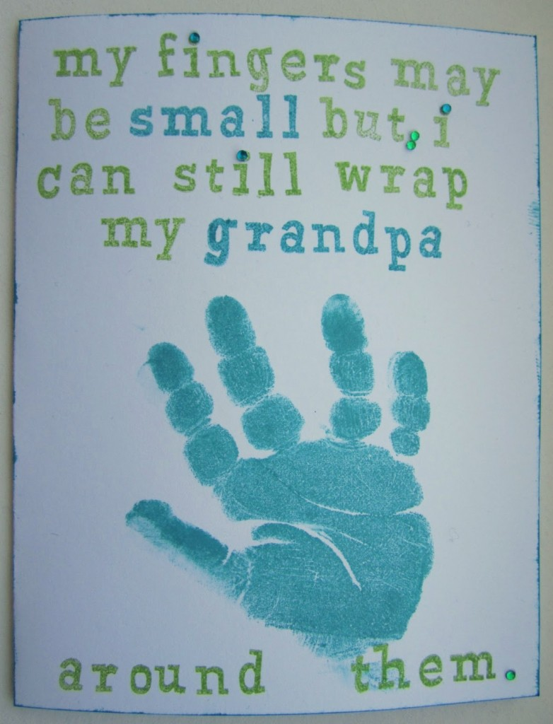 Fathers Day handprint card