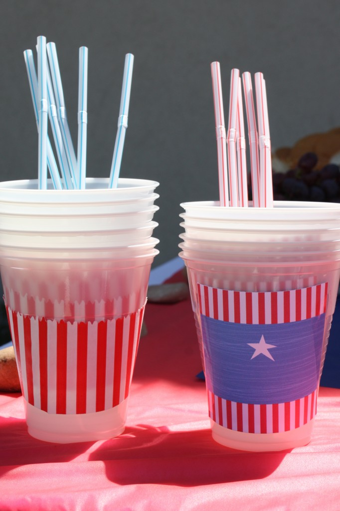 4th of July DIY Decorations drink wrappers