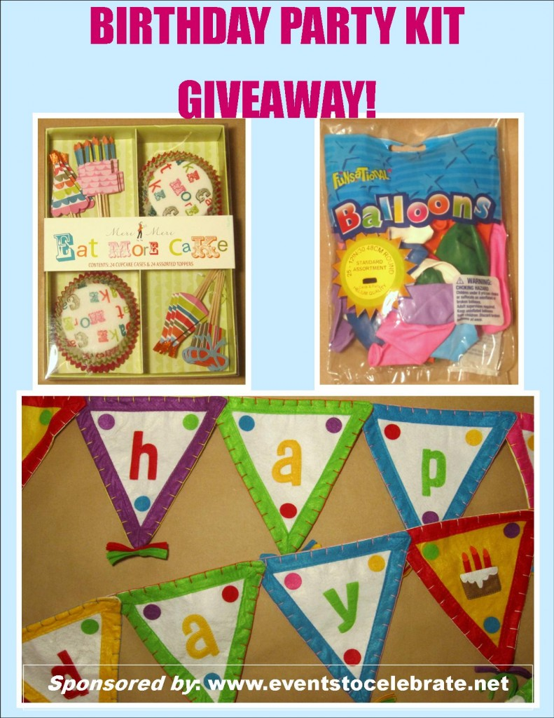 GIVEAWAY Birthday Party Kit events to CELEBRATE