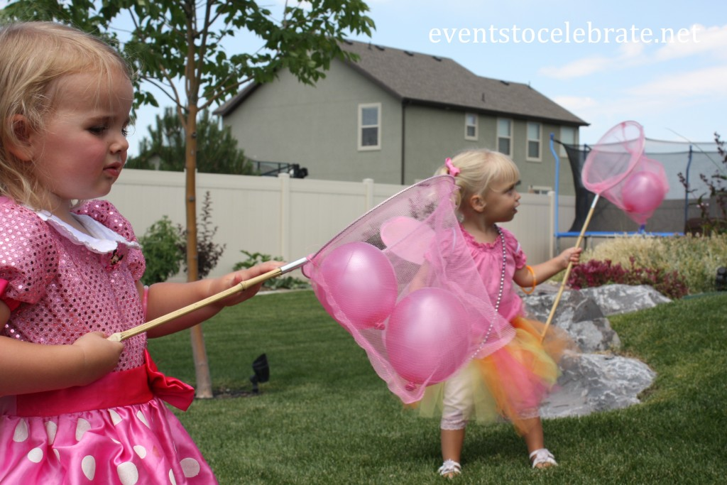 Butterfly Party Activities - catch small balloons with butterfly nets - eventstocelebrate.net