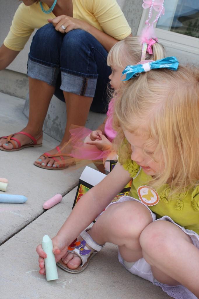 Butterfly Themed Birthday Party Activities - Sidewalk Chalk - eventstocelebrate.net