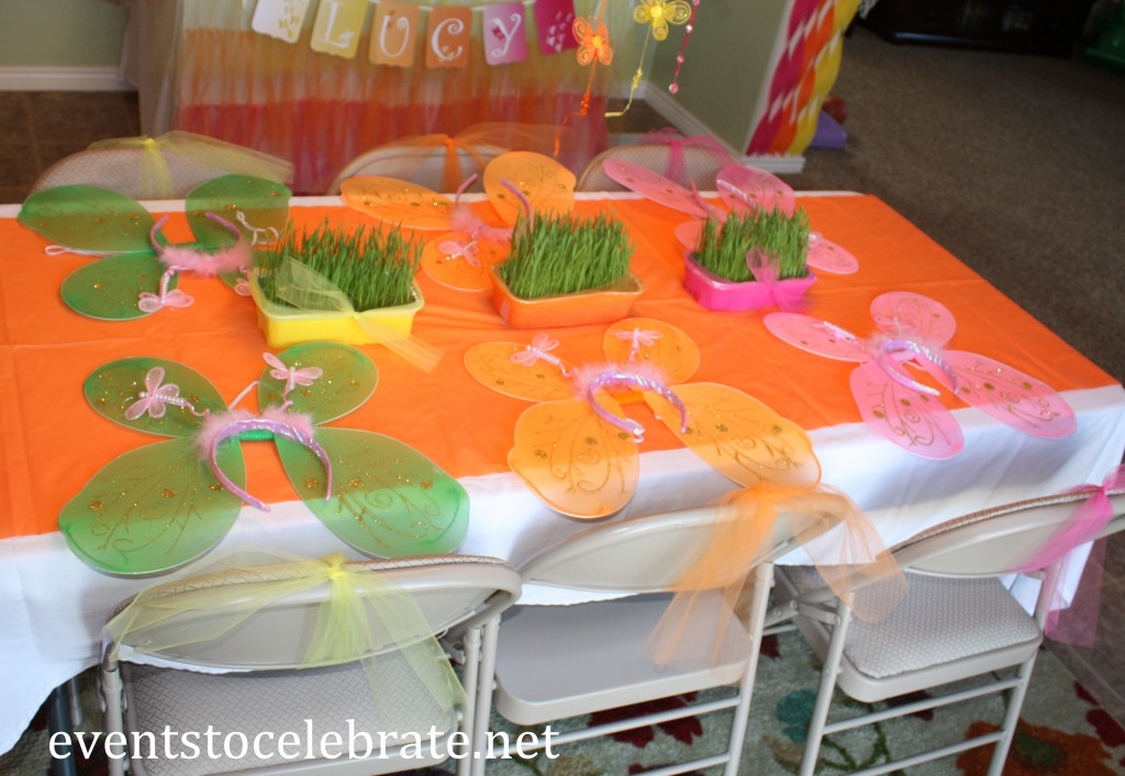 Butterfly Themed Birthday Party Activities - play dress up - eventstocelebrate.net