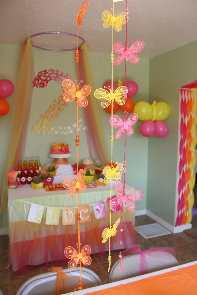 Butterfly Themed Party - Butterfly garlands - eventstocelebrate.net