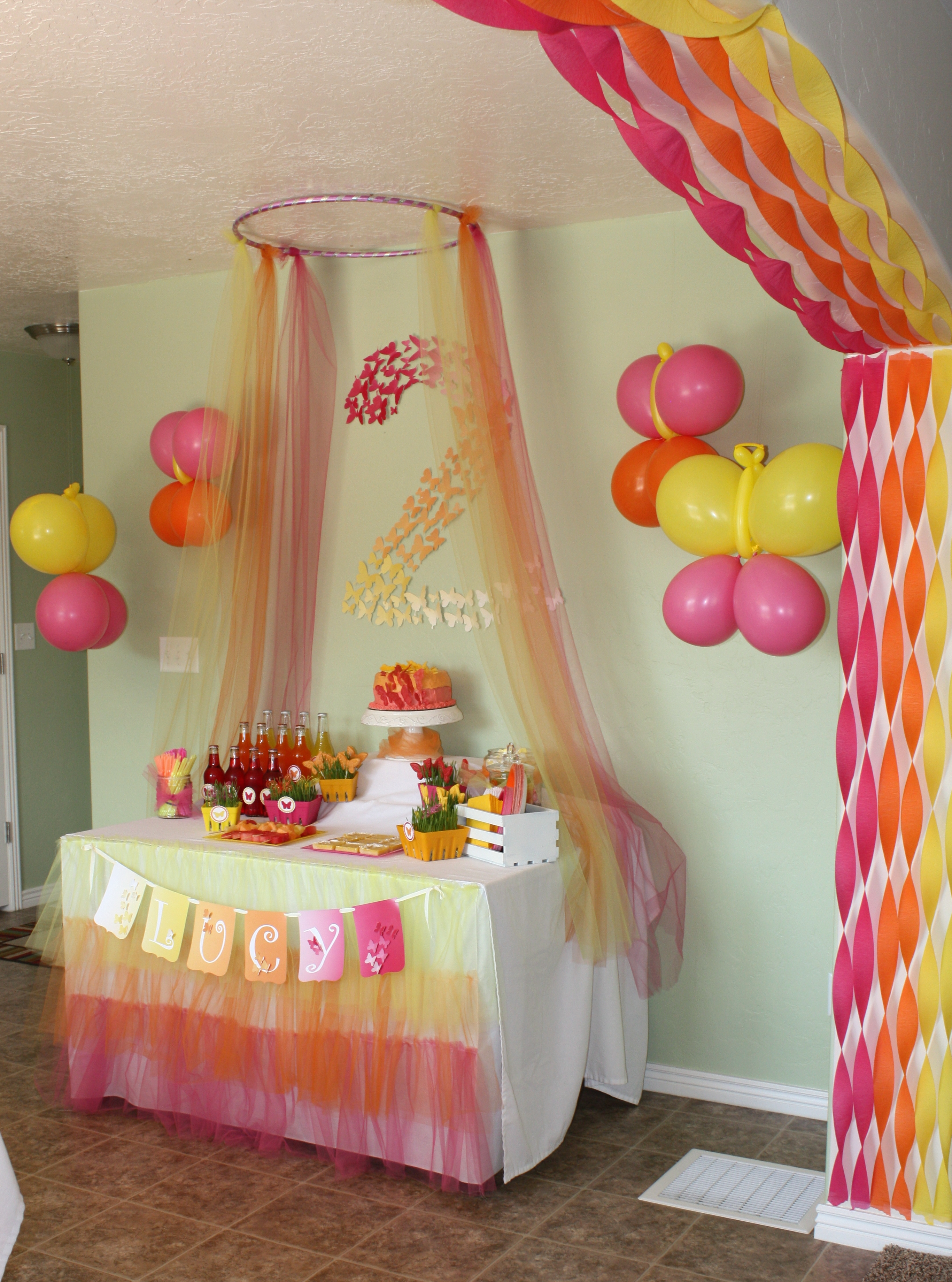 Butterfly themed birthday party decorations events to for 21st bday decoration ideas