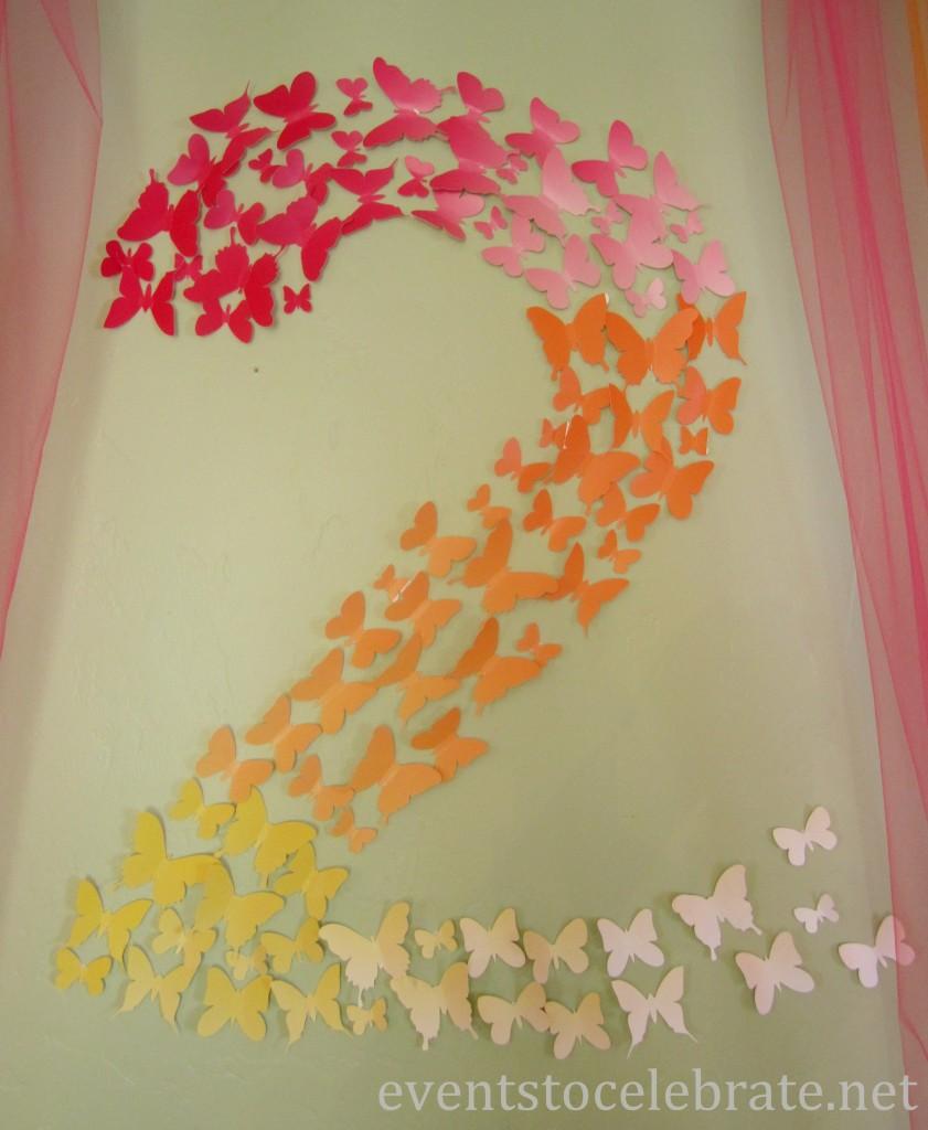 Butterfly Themed Party - butterfly decoration - eventstocelebrate.net