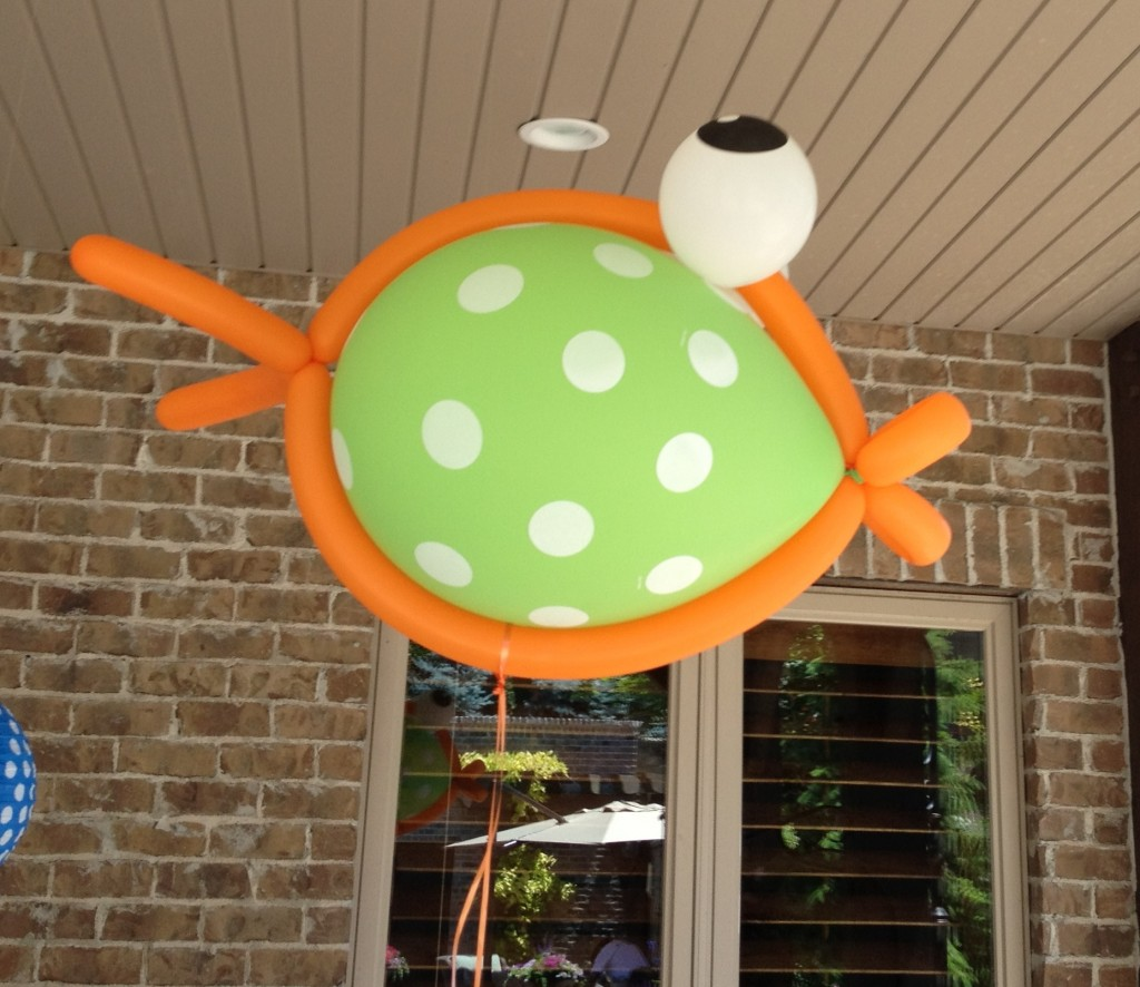 Swim Party Decorations - Fish Balloons