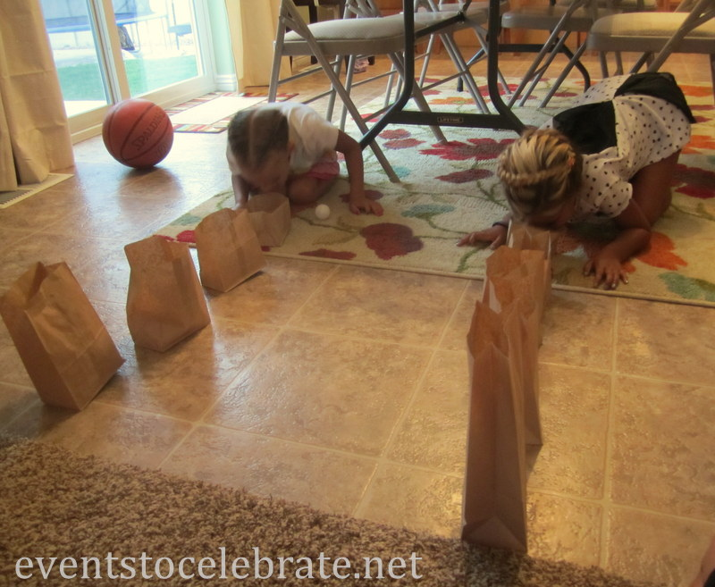 Minute To Win It - transfer cut bags from floor to table