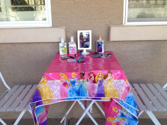 Princess Birthday Party Activities - Lotion and Glitter Spray
