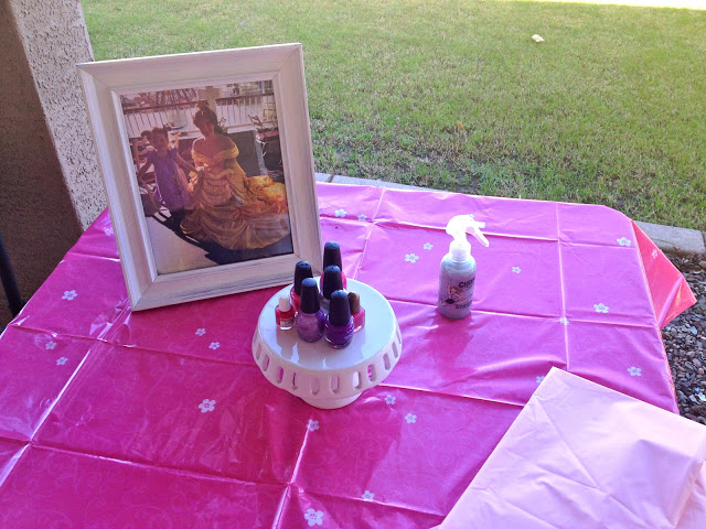 Princess Birthday Party Activities - Painting Nails