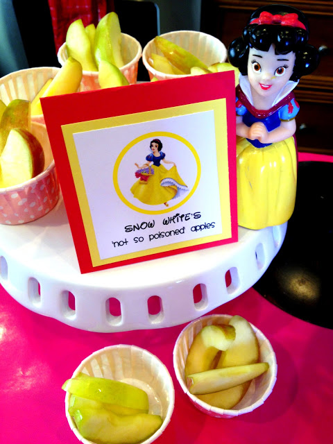 Princess Birthday Party Food - Snow White Apples