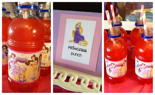 Princess Birthday Party Themed Drinks