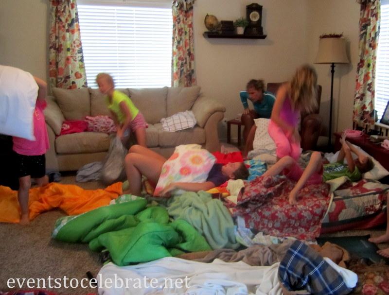 Slumber Party Activities - Pillow Fight
