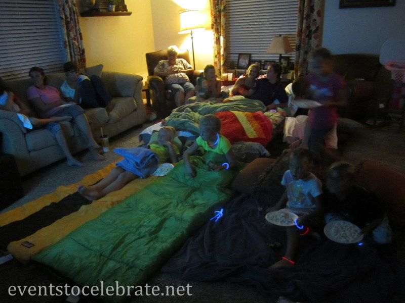 Slumber Party Activities - watch a movie