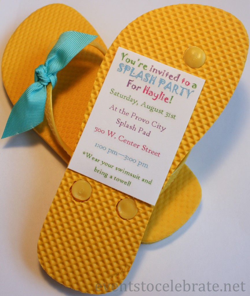 Swim Pool Party Invitation Idea - evenstocelebrate.net