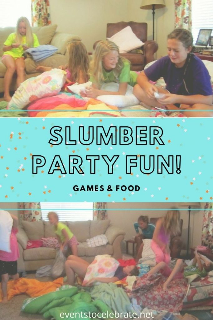 Fun food and game ideas for a sleepover
