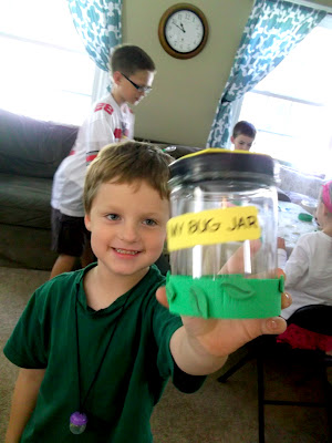 Bug Party Activities - Making a Bug Catching Jar