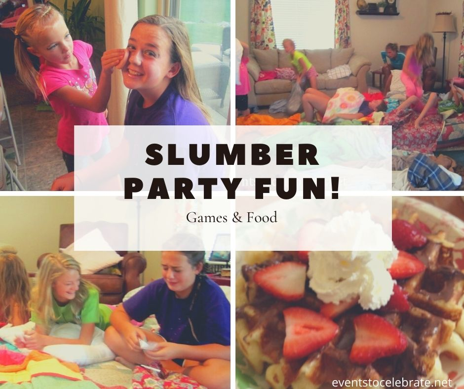 Game and food ideas for a sleepover