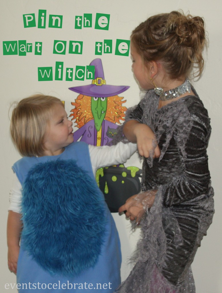 Halloween Party Activity - Pin the Wart on the Witch