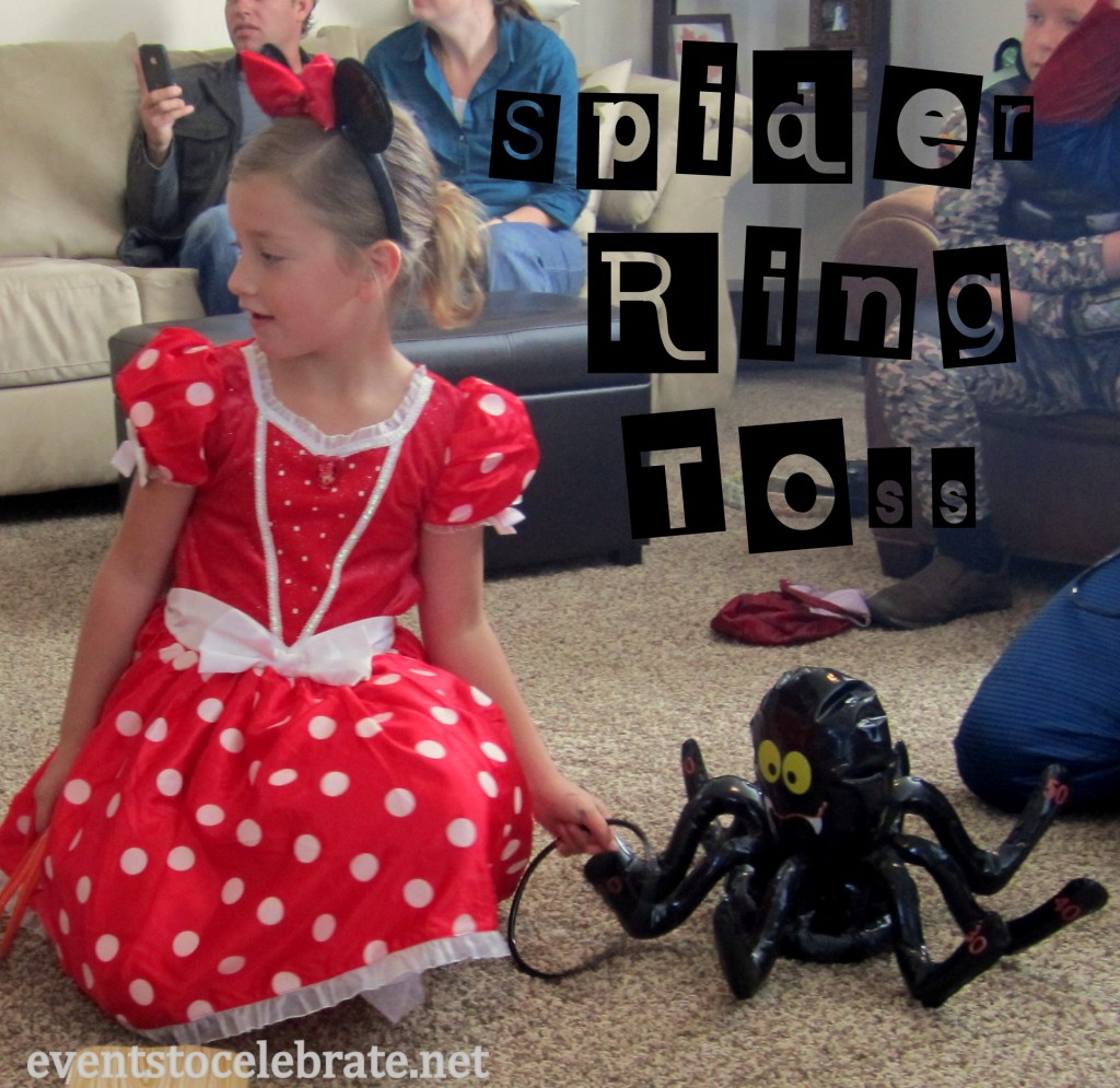Halloween Party Activity - Spider Ring Toss