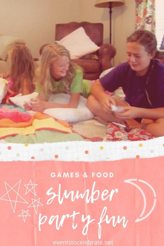 Food and game ideas for a slumber party