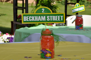 Sesame Street Birthday Party - Centerpieces