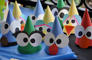 Sesame Street Birthday Party - Monster Party Hats