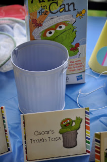Sesame Street Birthday Party - Oscars Trash Cans