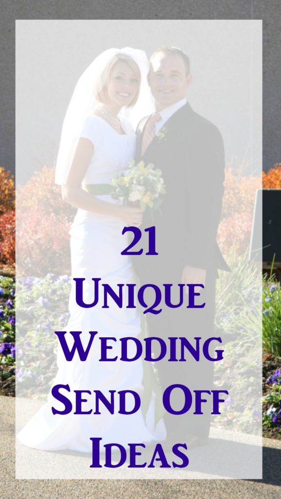 21 Unique Wedding Send Off Ideas